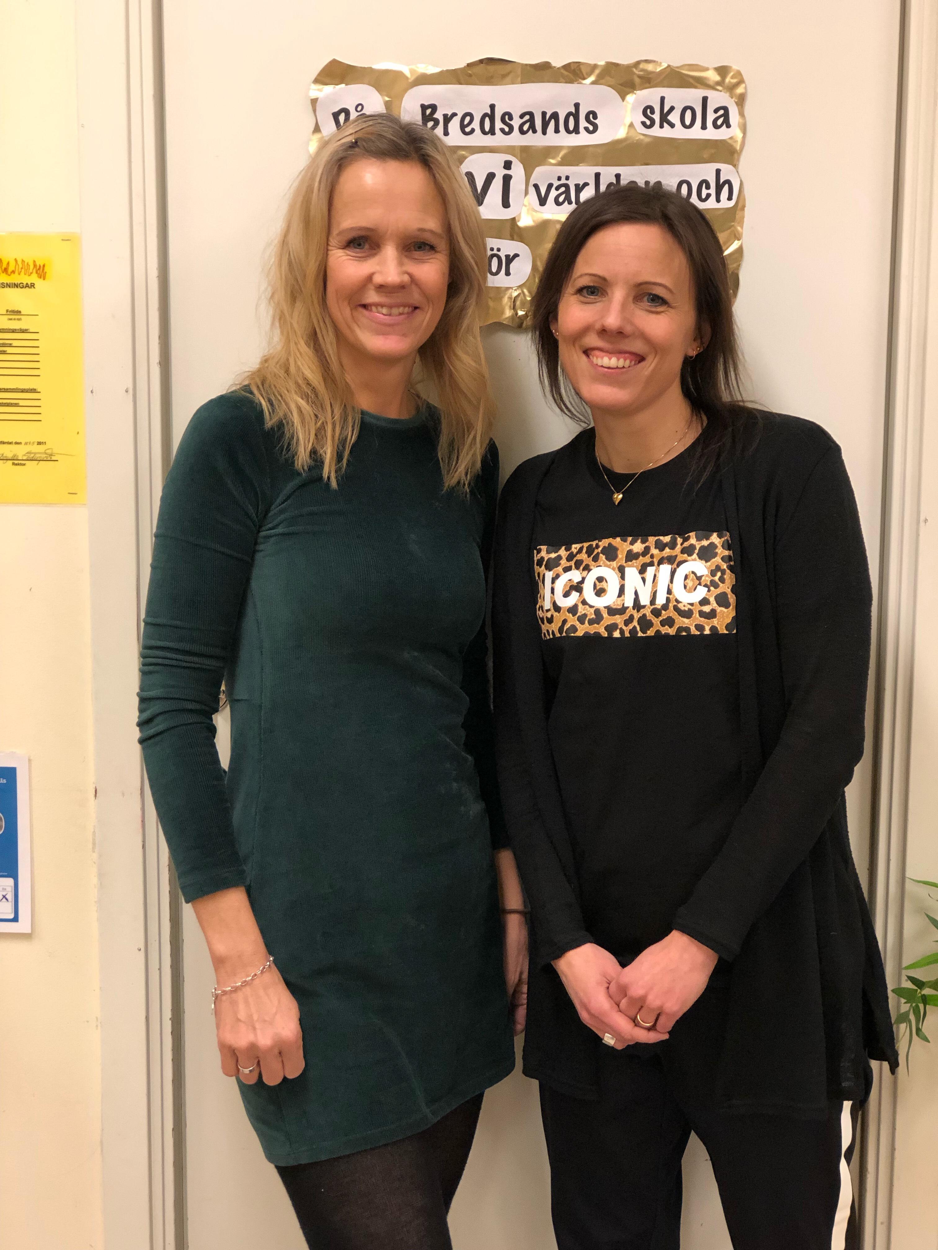 Linnea Persson och Kristina Nordlander på Bredsands skola